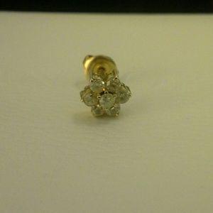 14k Real diamond Earring